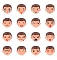 Male Boy Avatar Smile Emoticon Icons Set Isolated vector image