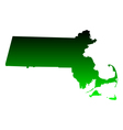 Map of Massachusetts vector image vector image