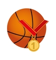medal first place championship vector image vector image