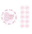 number days left symbol in minimal design vector image vector image