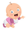 of cute baby vector image vector image