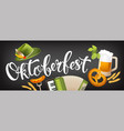 oktoberfest icon set horizontal banner with hat vector image