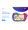 online flea market concept landing page vector image vector image