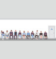 people sitting on chairs in corridor and waiting vector image vector image