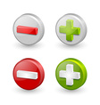 Plus and minus icons vector image vector image
