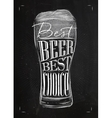 Poster best beer chalk vector image
