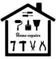 repair icons set symbols tools vector image vector image