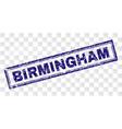 scratched birmingham rectangle stamp vector image vector image
