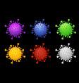 set bright multi-colored under microscope vector image