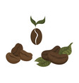 set coffee beans collection coffee beans in vector image vector image