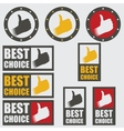 set of best choice icons vector image