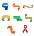 set of decorative ribbons vector image