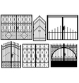 Set of different gates vector image vector image