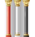 set of different luxury columns vector image