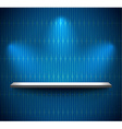 Shelf in a blue room vector image vector image