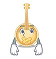 silent miniature banjo in the cartoon shapes vector image