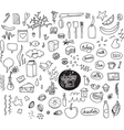 Sketch set Hand drawn elements Dotted vector image vector image