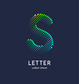 the letter s latin alphabet display vector image vector image