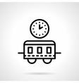 Train schedule black simple line icon vector image vector image