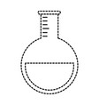 tube test laboratory isolated icon vector image vector image