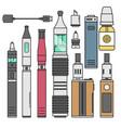 vape device cigarette vaporizer vapor juice vector image