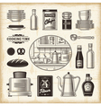 Vintage kitchen set vector image