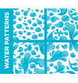 water drops and splashes seamless patterns vector image vector image