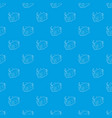 wet cleaning pattern seamless blue vector image vector image