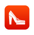 women shoes on platform icon digital red vector image vector image