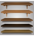 - Wood Shelves vector image vector image