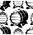 wooden barrels in retro style seamless background vector image vector image