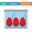 Icon of football players bench vector image