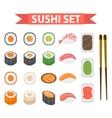 Sushi set icons element for design flat style vector image