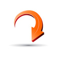 3D arrow sign vector image vector image