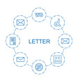 8 letter icons vector image vector image