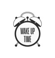 alarm clock wake up time vector image vector image