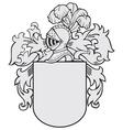 aristocratic emblem No15 vector image vector image