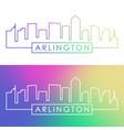 arlington city skyline colorful linear style vector image vector image