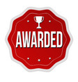 awarded label or sticker vector image