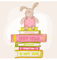 Baby Bunny Shower or Arrival Card vector image vector image