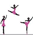 ballerinas dancing vector image vector image