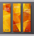 Banners with abstract polygonal background gold