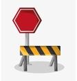 Barrier of under construction design vector image vector image