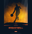 basketball banner with players modern sports vector image vector image
