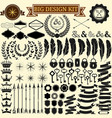 Big vintage design kit Collection of 100 vector image vector image