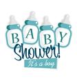 Blue Baby Shower Bottles vector image