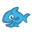Blue shark happy cartoon design vector image