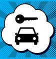 car key simplistic sign black icon in vector image vector image