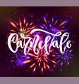 carnaval carnevale italian language hand vector image