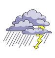 cartoon image of storm icon rainstorm symbol vector image